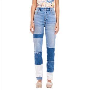 Rebecca Taylor La Vie patches jeans.